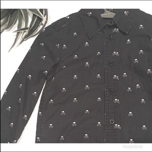 Rocker Style Skull Print  Shirt